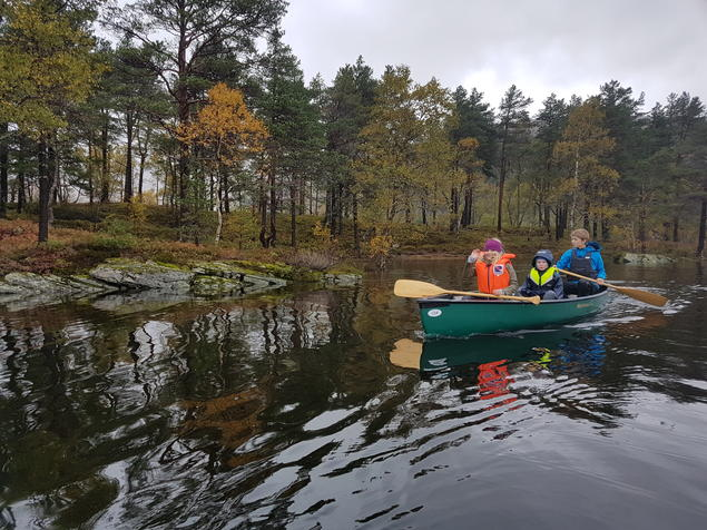 Kanotur vid Kvamshaug